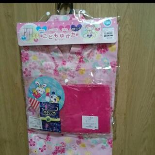 ニシマツヤ(西松屋)の新品未使用⭐キッズ浴衣⭐キッズゆかた⭐set⭐120センチ⭐(甚平/浴衣)