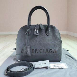 Balenciaga - バレンシアガ ヴィル トップハンドル ハンドバッグ ロゴ 2way レザー 黒