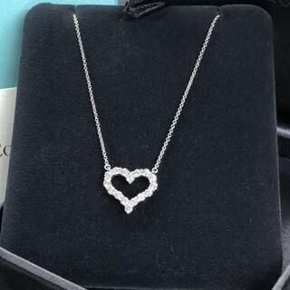 Tiffany & Co. - Tiffany ティファニー センチメンタル ハート ネックレス ダイヤモンド