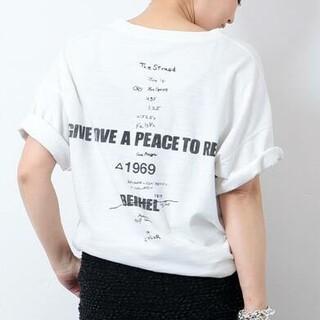 DEUXIEME CLASSE - LOVE A PEACE バックプリントTシャツ