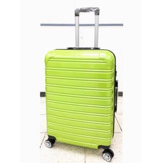 小型軽量スーツケース8輪キャリーバックTSAロック付 機内持込Sサイズ グリーン(旅行用品)