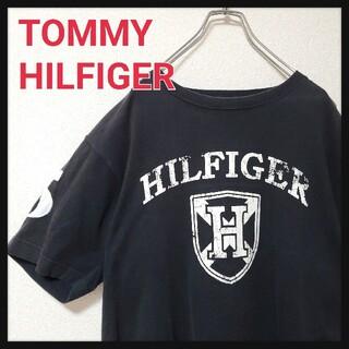 TOMMY HILFIGER - トミーヒルフィガー TOMMY HILFIGER ロゴ Tシャツ ブラック L