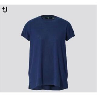 UNIQLO - UNIQLO プラスJ +J シルクコットンクルーネックセーター 半袖