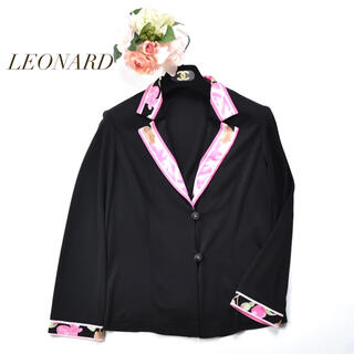 LEONARD - LEONARD カンカン素材 人気柄 ジャケット