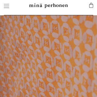 mina perhonen - ミナペルホネン    dear オレンジ 生地 ハギレ