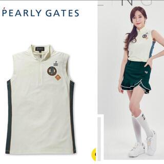 パーリーゲイツ(PEARLY GATES)のパーリーゲイツ  レディース 韓国シャツ新品、正規品、タグ付き(ウエア)