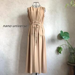 nano・universe - 【美品】ナノユニバース ノースリーブギャザーワンピース