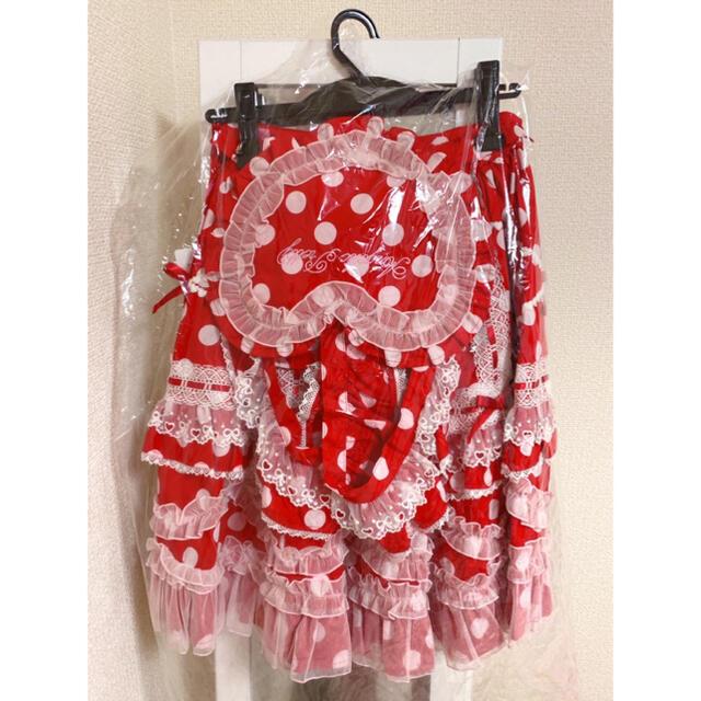 Angelic Pretty(アンジェリックプリティー)のangelic pretty Heart胸あて付スカート カチューシャセット レディースのワンピース(ひざ丈ワンピース)の商品写真