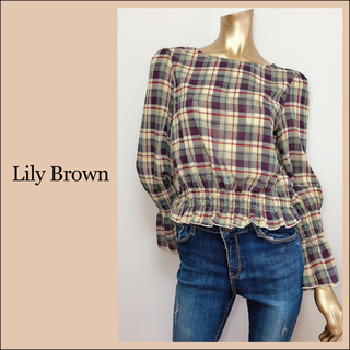Lily Brown - Lily Brown チェック柄 ブラウス*トゥモローランド jouetie