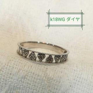K18 ハート ダイヤモンド リング ミル打ち