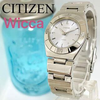 CITIZEN - 106 シチズン ウィッカ時計 レディース腕時計 シルバー 人気 シンプル