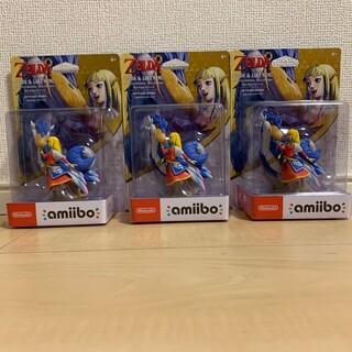 ニンテンドースイッチ(Nintendo Switch)の極美品 amiibo ゼルダ&ロフトバード 3体セット(ゲームキャラクター)