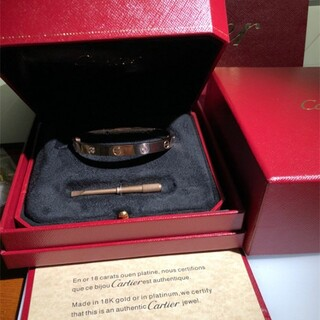 Cartier - 極美品カルティエ Cartier ラブブレス 新型 17 ピンクゴールド