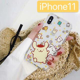 ポムポムプリン(ポムポムプリン)の新品 ポムポムプリン サンリオ ケース 韓国 iPhone11 スマホ カバー(iPhoneケース)