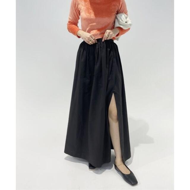 EDIT.FOR LULU(エディットフォールル)の新品 EDIT.FOR LULU ギャザースリット マキシスカート レディースのスカート(ロングスカート)の商品写真