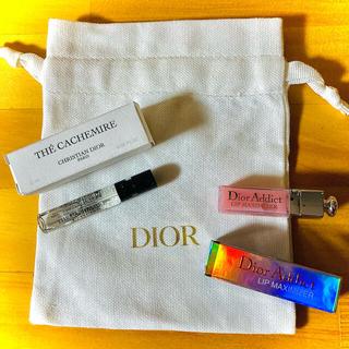 Dior - 【DIOR】ミニグロス&香水サンプル♡巾着ポーチ付