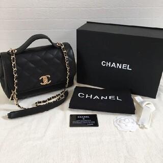 CHANEL - CHANEL シャネル スモールトップハンドル チェーンショルダー バッグ