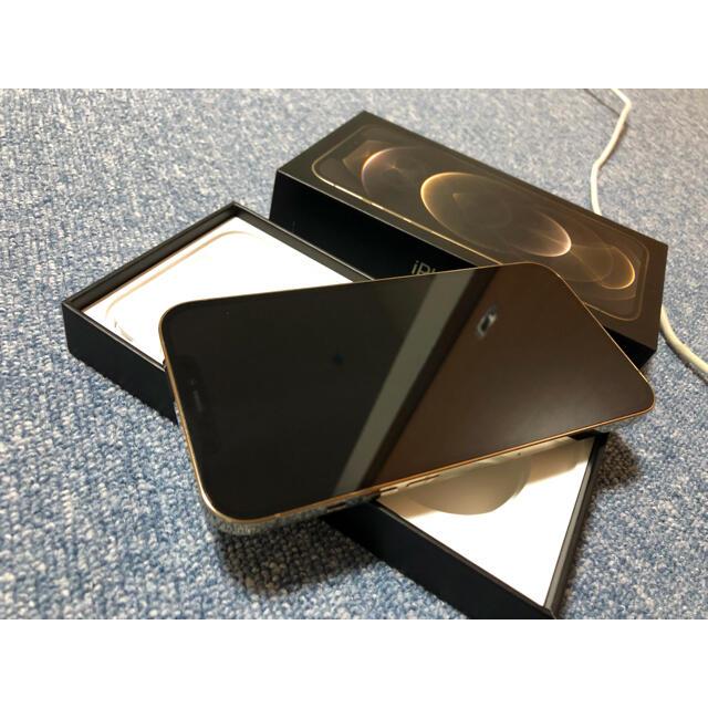 Apple(アップル)の美品iPhone12 ProMax 128GB ゴールドSIMフリー スマホ/家電/カメラのスマートフォン/携帯電話(スマートフォン本体)の商品写真