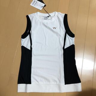 パーリーゲイツ(PEARLY GATES)のワイドアングルレディース 韓国メッシュシャツSサイズ(ウエア)
