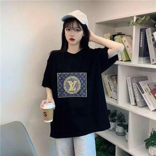 美品♣️オシャレ モノグラム柄レディースTシャツ