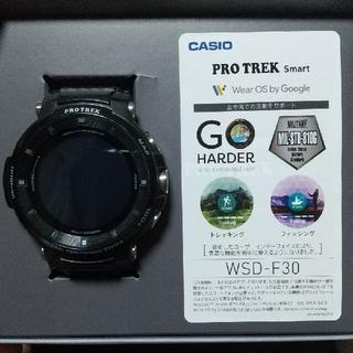 カシオ(CASIO)のCASIO  PROTREK  WSD-F30-BK カシオプロトレックスマート(腕時計(デジタル))