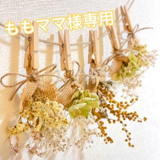 ドライフラワー スワッグ ガーランド ミモザ 紫陽花 スターチス かすみ草(ドライフラワー)