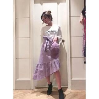リリーブラウン(Lily Brown)のリリーブラウン アシンメトリーミディスカート(ひざ丈スカート)
