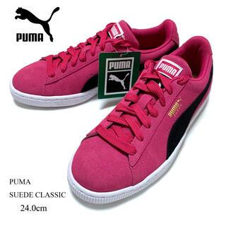 PUMA - 新品 24.0cm プーマ スウェード クラシック スニーカー ピンク 定番