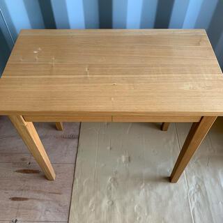 ムジルシリョウヒン(MUJI (無印良品))の無印 タモ材 テーブル 机(ダイニングテーブル)