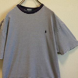 POLO RALPH LAUREN - 90s ラルフローレン リンガー tシャツ ボーダー ポニー刺繍 vintage