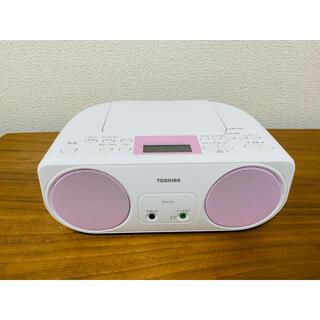 トウシバ(東芝)の【美品】東芝 CDラジオ TY-C151(P)(ポータブルプレーヤー)