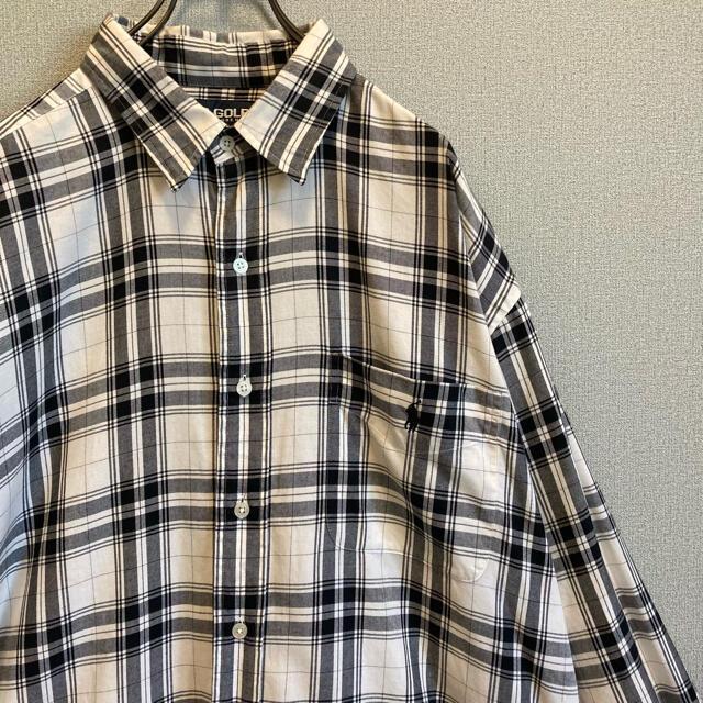 POLO RALPH LAUREN(ポロラルフローレン)の90s ラルフローレン XL チェックシャツ ポニー刺繍  vintage メンズのトップス(シャツ)の商品写真
