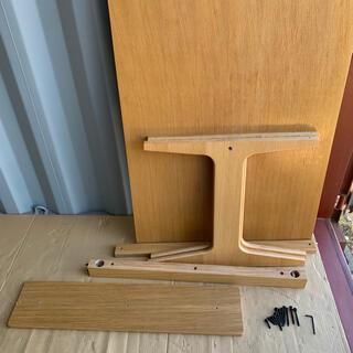 ムジルシリョウヒン(MUJI (無印良品))の無印良品 リビングでもダイニング テーブル 机 オーク材 ローテーブル (ダイニングテーブル)
