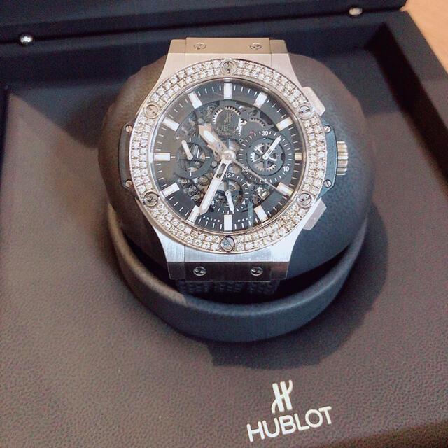 HUBLOT(ウブロ)のHUBLOT アエロバンダイヤベゼル 付属品完備 メンズの時計(腕時計(アナログ))の商品写真