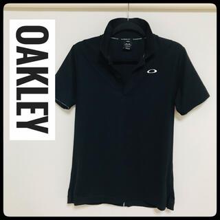オークリー(Oakley)の【美品】OAKLEY(オークリー)★半袖ポロシャツ★黒×白Mサイズ★(ポロシャツ)