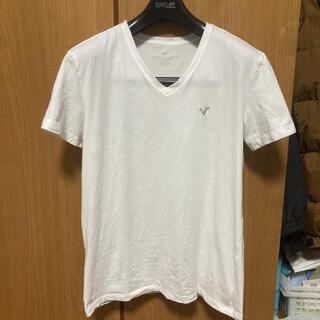 American Eagle - アメリカンイーグル 白VネックTシャツ