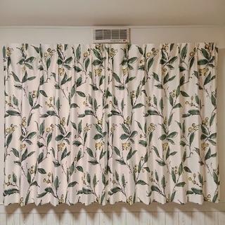 ニトリ - ニトリ オリーブ柄 カーテン 腰高窓 遮光1級