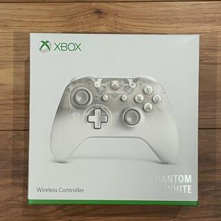 エックスボックス360(Xbox360)の【極美品】XBOX ファントムホワイト ワイヤレスコントラー(その他)