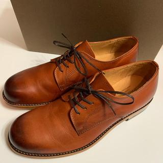 新品未使用 PADRONE パドローネ 牛革 革靴 42サイズ キャメル