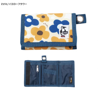 CHUMS - [チャムス] 財布 Eco Small Wallet Yellow Flower