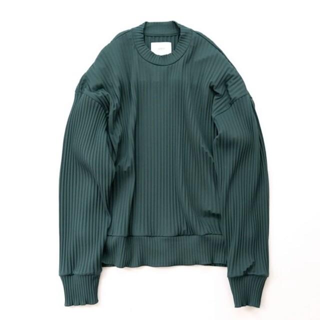 【完売品】stein pleated knit Green メンズのトップス(ニット/セーター)の商品写真