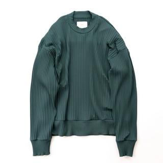 【完売品】stein pleated knit Green