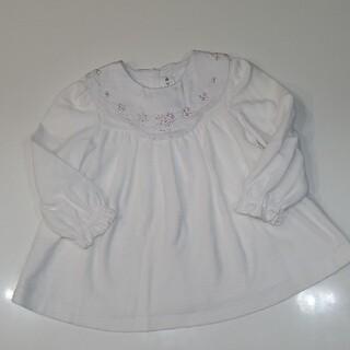 celine - セリーヌ/CELINE/襟付き/ワンピース/お花刺繍/白/ホワイト/90/日本製