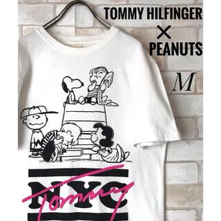 TOMMY HILFIGER - 古着TOMMY HILFINGE ✖️PEANUTSコラボ白 Tシャツ