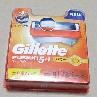 ジレ(gilet)のジレット 髭剃り フュージョン 5+1 パワー 替刃8個入 3個セット(メンズシェーバー)