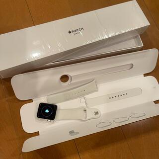 Apple Watch - APPLE WATCH3 38mm シルバー GPSモデル MTEY2J/A