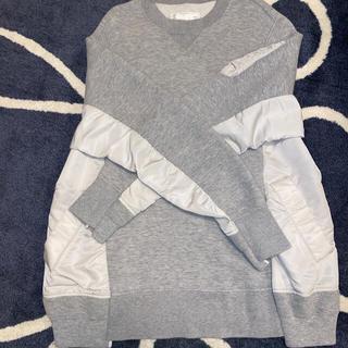 sacai - sacai  Sponge Sweat×MA-1 Pullover サイズ1