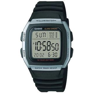 カシオ(CASIO)のカシオ デジタル スタンダードモデル 10年バッテリー 腕時計 ブラック(腕時計(デジタル))