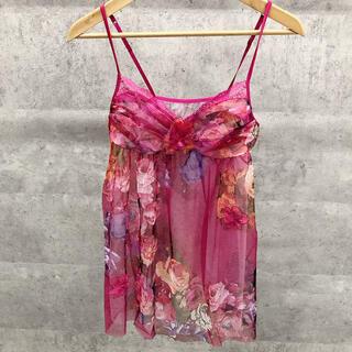 Wacoal - ワコール パルファージュ キャミソール ランジェリー ベビードール ピンク 薔薇