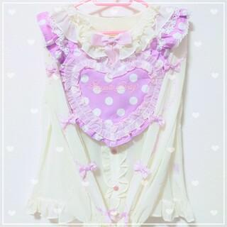 Angelic Pretty - Heart胸あて付スカート、Sweetie Ribbon ブラウス